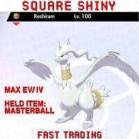 Pokemon Sword and Shield SQUARE SHINY RESHIRAM 6IV FAST TRADING