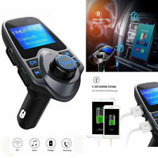 Auto Bluetooth Wireless MP3Player Car AUX Audio Receiver FM Adapter USB-Charger