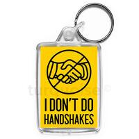 Virus Hanshake Wash Your Hands Keyring Gift Key Fob | Medium Size