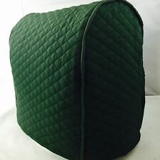 Hunter Green Quilted Double Faced Cotton Kitchenaid Lift Bowl Cover