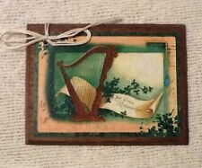 5 Handcrafted Wooden St. Patrick's Day Ornaments/Irish Hang Tags SetO1