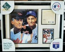 Cal Ripken Jr. Lou Gehrig Matted Lithograph With Frame and Original Box