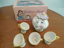 VINTAGE DISNEY BEAUTY AND THE BEAST TOY CHINA TEA SET MRS. POTTS AND CHIP