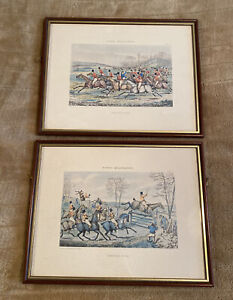 Vintage Hunting Scene Prints Framed - Hunting Qualifications - By H Alken