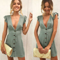 Womens Baggy Short Plain Tops trim Party Loose UK Holiday Skinny Mini Dresses