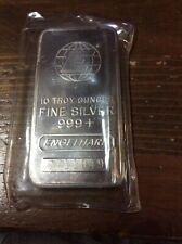"""One (1) - Engelhard 10oz Silver Bar in plastic      2 1/2"""" X 1 1/2"""" X1/2"""""""