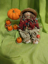 Small Shelf Sitter Scarecrow Plush Country Fall Harvest Festive