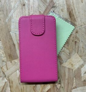 Magnetic Leather Wallet Flip Case Cover For Microsoft Nokia Lumia 530 White/Pink