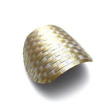 """Antiqued Gold 2"""" Silver Weave Ponytail Holder Barrette Vintage Style Hair Clip"""