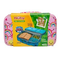 Nuby Girl Insulated Bento Box - Travel Friendly - Lunchbox - Leakproof -BPA Free