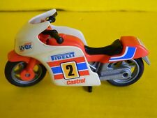 Vintage 1988 Playmobil Cafe Motorcycle collectible mini toy - Pirelli Castrol