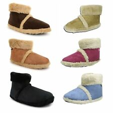 Mens Or Ladies Dunlop Coolers Microsuede Fur Lined Slippers Ankle Boots Booties