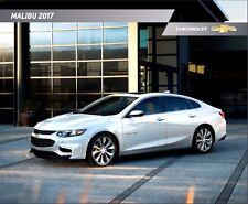 2017 Chevrolet Malibu and Hybrid 32-page Original Car Sales Brochure Catalog