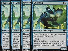 XXX 4x quickling inglese Magic 2015 m15 (Faerie Rogue FLASH Flying Blue) NM/M