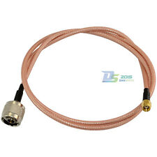 RF Coax Pigtail WLAN Cable Lead Adapter N Male to RP-SMA Male Straight 3ft RG142