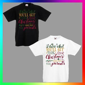 I Know What You'll Get This Christmas TShirt T-Shirt Tee Kid Children Xmas Fun