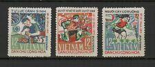 Vietnam du Nord 1972 résistance nationale série 3 timbres neufs MNH /TR8437