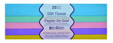 New Gift Wrap Bag Tissue Paper Colors 24 Sheets 20 x 20 Inches ~ Pastel (Qty 1)