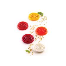 "Silikomart ""Tourbillon9"" Swirl Disc Silicone Mold, 0.30 oz, 15 cavities"