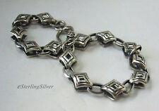 """925 Sterling Silver Designer Bracelet - 6.75"""" Inches, 8.5 Grams, 7mm Width"""