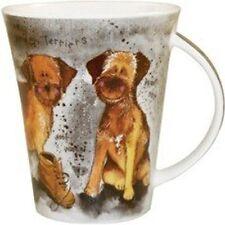 Alex Clark FINE PORCELLANA cinese FLIRT Tazza-cani-Boot Camp-Border Terriers-Cani sciolti