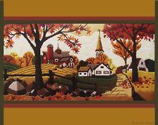 *VERY VINTAGE LONGSTITCH*1984 FIRESIDE * New England Autumn * HUGE Kit