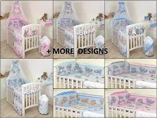 BABY BEDDING SET COT & COT BED 3,4,5,7,9 PCS PILLOW, DUVET,BUMPER CANOPY /HOLDER