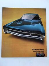 1970 Plymouth Fury and GT Sport 20-page Original Car Sales Brochure Catalog