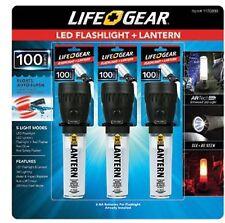 NEW 3 PACK Life Gear LED Flashlight Lantern 100 Lumens Water & Impact Resistant!