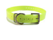 1″ yellow strap Ring Dog Collar for big dog Garmin Dc40 Gps tracking collar