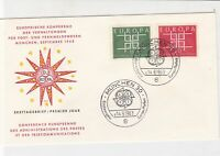 germany 1963 europa stamps cover ref 20252