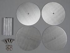 4pcs Aluminum Wheel Rim Disc Cover for Tamiya 1/10 RC Super Clodbuster Bullhead