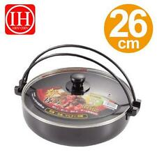 Sukiyaki Nabe Pan with Glass Lid for Induction Heating Stove IH S-3868