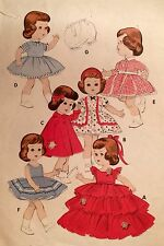 "USED 1950S 'BUTTERICK' 11"" DOLL 'LITTLEST ANGEL' WARDROBE SEWING PATTERN 7971"