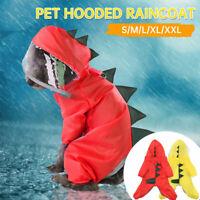Pet Dog Clothes Dinosaur Waterproof Hooded Jumpsuit Puppy Cat Teddy Rain Coat