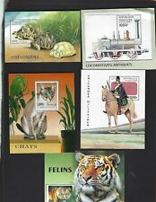 Togo sc#1763,1770,1783A,1795A,1925 (1996-2000) Souvenir Sheets MNH