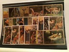 Wildlife and paintings stamps R21616