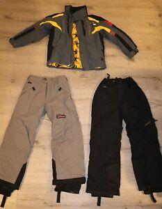 Spyder Thinsulate Ski Winter Snow Jacket W/ 2 Pants Set Grey Size 10 Kids Boy