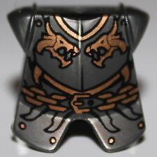 LeGo Castle Pearl Dark Gray Body Armor Kingdoms Dragon Heads and Chain Pattern