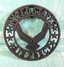 United States Air Force Plaque Trivet Wall Decor Cast Iron Veteran 8 3/8inch New