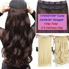Real 3/4 Full Head Clip In Hair Extensions Long Straight Wavy Hair Extentions US