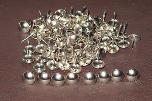 500 Nickel / Silver  upholstery nails Decorative domed studs 11 mm wide