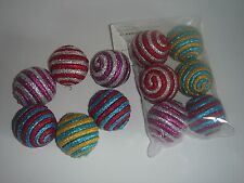 Cat Toy lot 6 Rattle Striped Ball/brand new, in pack