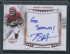 2019 Leaf Trinity RODNEY ANDERSON autograph auto w/inscription Sooners