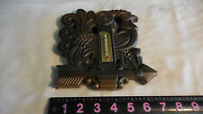 Vintage Chalk Ware Wall Plaque Copper Colored Rooster Weathervane /Thermometer