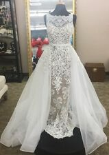 Sherri Hill Style 50768 High neck fitted lace appliqued gown w/tulle over skirt