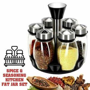 High Quality SPICE & SEASONING bottle Kitchen Jar Set for sugar pepper powder