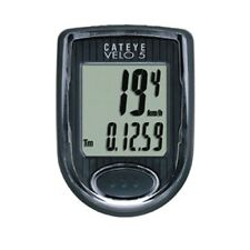 Cateye Velo 5 Cycle Computer - Black Wired Bike Cycling Wireless