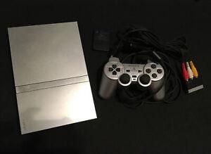 Console Ps2 Slim Silver +manette + Carte Mémoire + 10 Jeux Complet
