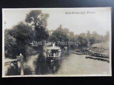 WINDSOR Steam Ferry Boat READING Below Windsor Lock Old RP Postcard by WR11